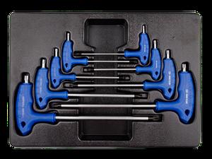 Набор L-обр ключей TORX 1163R 8пр Т10-Т50 KING TONY 9-22308PR (Тайвань)