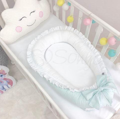 """Кокон для новорожденных Маленькая Соня """"Универсал"""", цвет мята"""