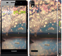 "Чехол на Huawei Ascend P6 Фонарики ""2724c-39"""