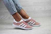 Женские кроссовки Adidas Gazelle,замшевые,пудра с белым 37,41р.