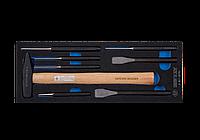 Набор инструментов (молоток/ зубила/ выколотки и керн 8 предметов (EVA FOAM) KING TONY 9-90118PRV (Тайвань)