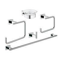 Набор аксессуаров для ванны Master 5 в 1 Grohe Essentials Cube 40758001