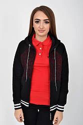 Кофта женская 119R006(409) цвет Черно-бордовый
