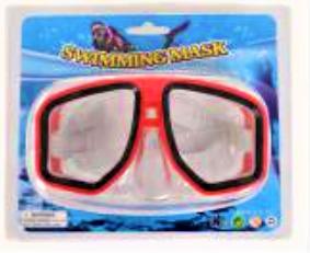 Маска для подводного плаванья детская 0327-41SH Красная