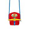 Качеля дитяча з пискавкою Технок 1790 Сонечко Червона пластикова підвісна гойдалка, фото 2
