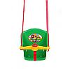 Качеля дитяча з пискавкою Технок 1790 Сонечко Червона пластикова підвісна гойдалка, фото 3