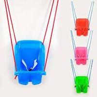 Качеля Малыш  3015 Голубая  пластиковая подвесная качеля