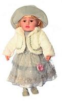 """Кукла мягкая  """"Панночка""""M 3863 UA  в персиковом платье для девочки, на батарейках"""