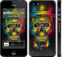 "Чохол на iPhone 5s 3D скелет ""2868c-21"""