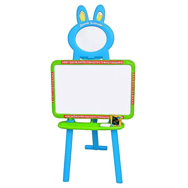 Дитяча дошка мольберт і магнітна дошка для малювання 3 в 1 0703 UK-ENG Блакитна з зеленим