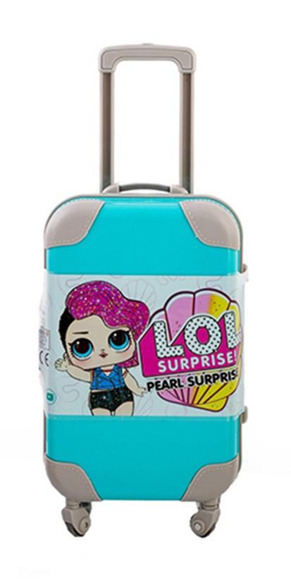 "Кукла ЛОЛ в голубом чемодане  Glitter"" 14 см с аксессуарами"