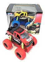 Металлическая инерционная машинка с большими колесами Crazy Car  K148A1-A2-A3 Красная