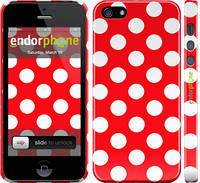 """Чохол на iPhone 5s Червоний горошок """"2909c-21"""""""