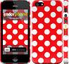 """Чехол на iPhone 5 Красный горошек """"2909c-18"""""""