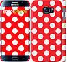 """Чехол на Samsung Galaxy S6 G920 Красный горошек """"2909c-80"""""""