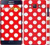 """Чехол на Samsung Galaxy A5 A500H Красный горошек """"2909c-73"""""""