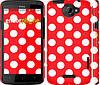"""Чехол на HTC One X Красный горошек """"2909c-42"""""""