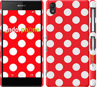 """Чехол на Sony Xperia Z2 D6502/D6503 Красный горошек """"2909c-43"""""""