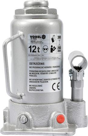 Домкрат гидравлический бутылочный 12 т. Vorel 80062 (Польша)