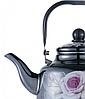 Чайник з рухомою ручкою Benson BN-106 чорний з малюнком (2.5 л), фото 2