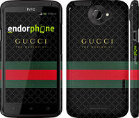 "Чехол на HTC One X Gucci 1 ""451c-42"""