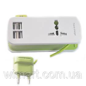 Удлинитель 4 USB Charger (1.5м.), зеленый