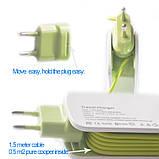Подовжувач 4 USB Charger (1.5 м.), зелений, фото 2