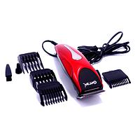 Машинка - триммер для стрижки волос Gemei GM-1025 4 в 1 красная