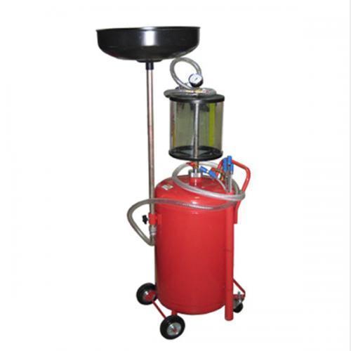 Установка для зливу і вакуумного відкачування масла з мірною колбою 80 літрів G. I. KRAFT B8010KVS