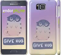 "Чехол на Samsung Galaxy Alpha G850F Give Hug ""2695c-65"""
