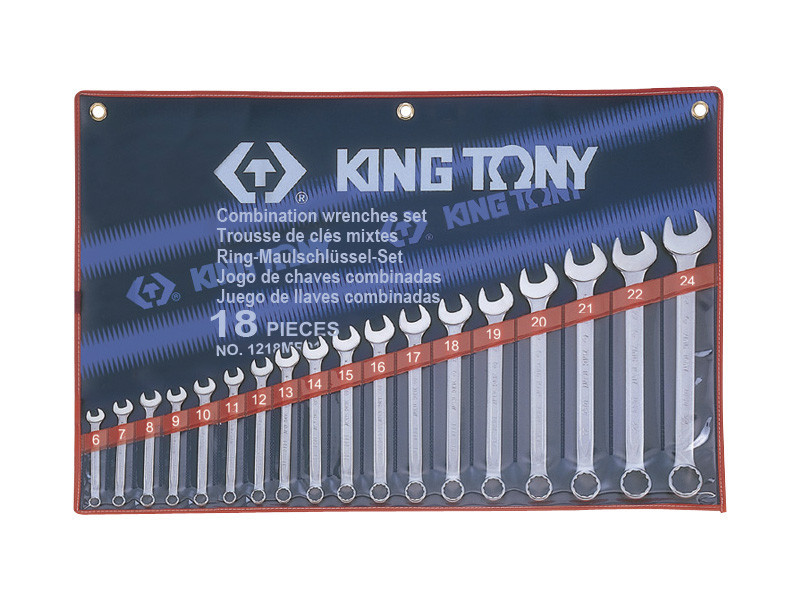 Набор ключей рожково-накидных 18 ед. KING TONY 1218MR01(Тайвань)
