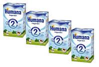 Humana (Хумана) 2 с пребиотиками (ГОС), 4х600 г. (4 шт.) (785565/4)