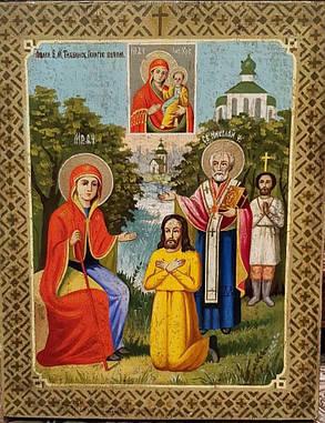 Икона Явление Тихвинской Богородицы Пономарю Георгию 19 век, фото 2