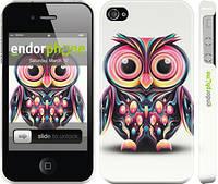 "Чехол на iPhone 4 Сова v3 ""2925c-15"""