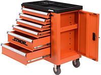 Инструментальная тележка на колесах с инструментами 184 единицы STHOR 58560 (Польша)