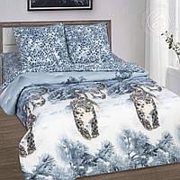 Комплект постельного белья Снежный барс, поплин (Полуторный)
