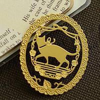 Закладка для книг Кот Ученый BLINGIRD Золотистый