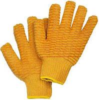 Защитные рукавицы RCROSS P выполненные из трикотажа оранжевого цвета,покрыты сеткой ПВХ с добавлением силикона