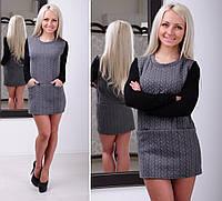 Теплое платье «Косичка»