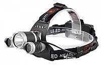 Налобный фонарь Police RJ-3000 (Cree T62Q5, 1600 люмен, 4 режима работы, 2x18650) #S/O