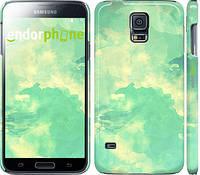 """Чехол на Samsung Galaxy S5 g900h Зеленые волны """"2696c-24"""""""