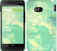 "Чехол на HTC One M7 Зеленые волны ""2696c-36"""