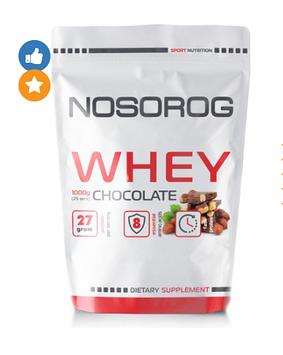 Протеин сывороточный Носорог / Nosorog Nutrition Whey protein 1 кг шоколад