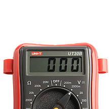 Цифровой мультиметр тестер UNI-T UT30B Измерить Емкость Сопротивление Частота Гц тестер AC / DC , фото 2