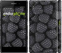 """Чехол на Sony Xperia Z1 C6902 Черная ежевика """"2873c-38"""""""