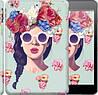 """Чехол на iPad 5 (Air) Девушка с цветами """"2812c-26"""""""