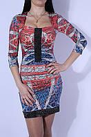 Платье женское красное 2585