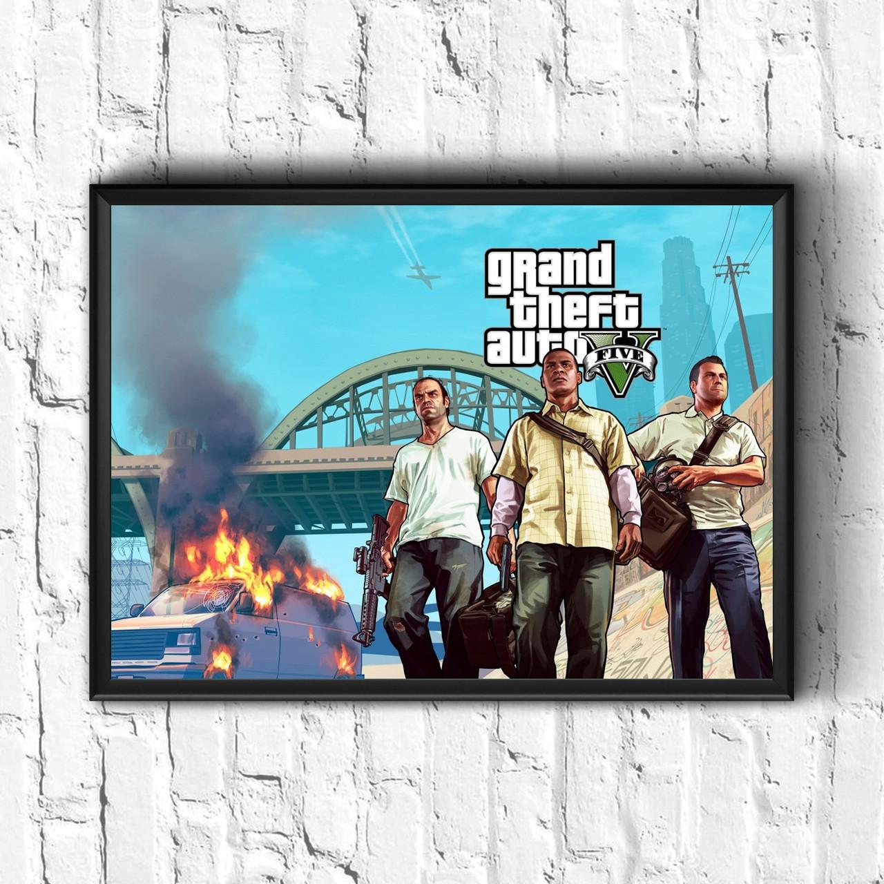 Постер с рамкой GTA #1