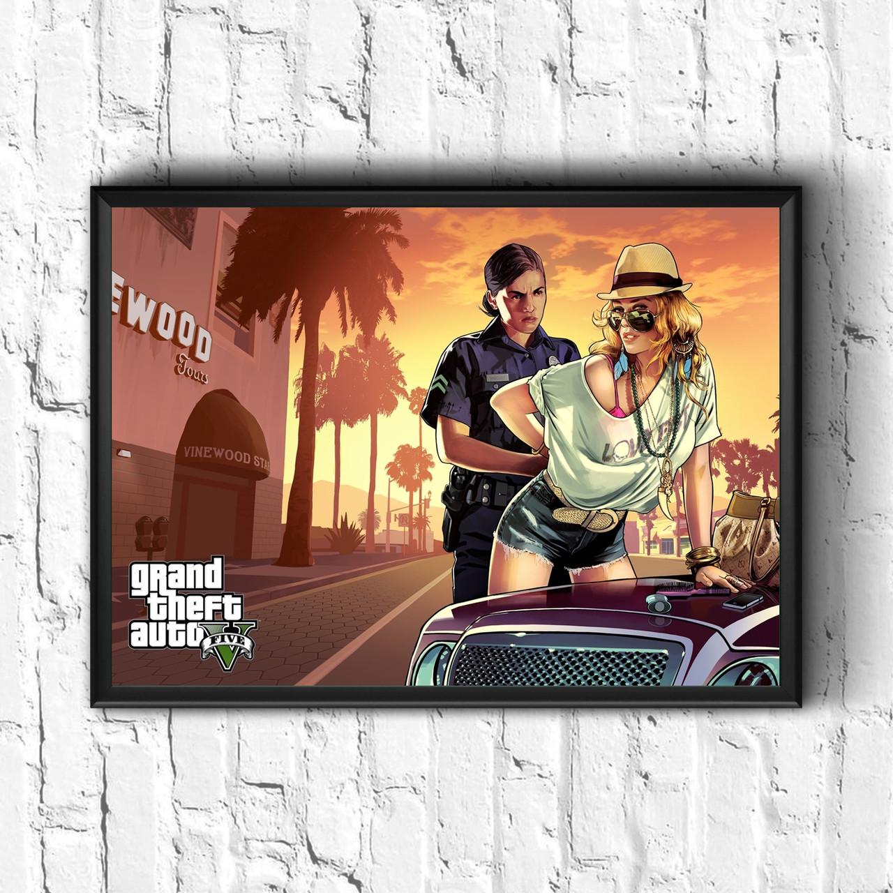 Постер с рамкой GTA #4