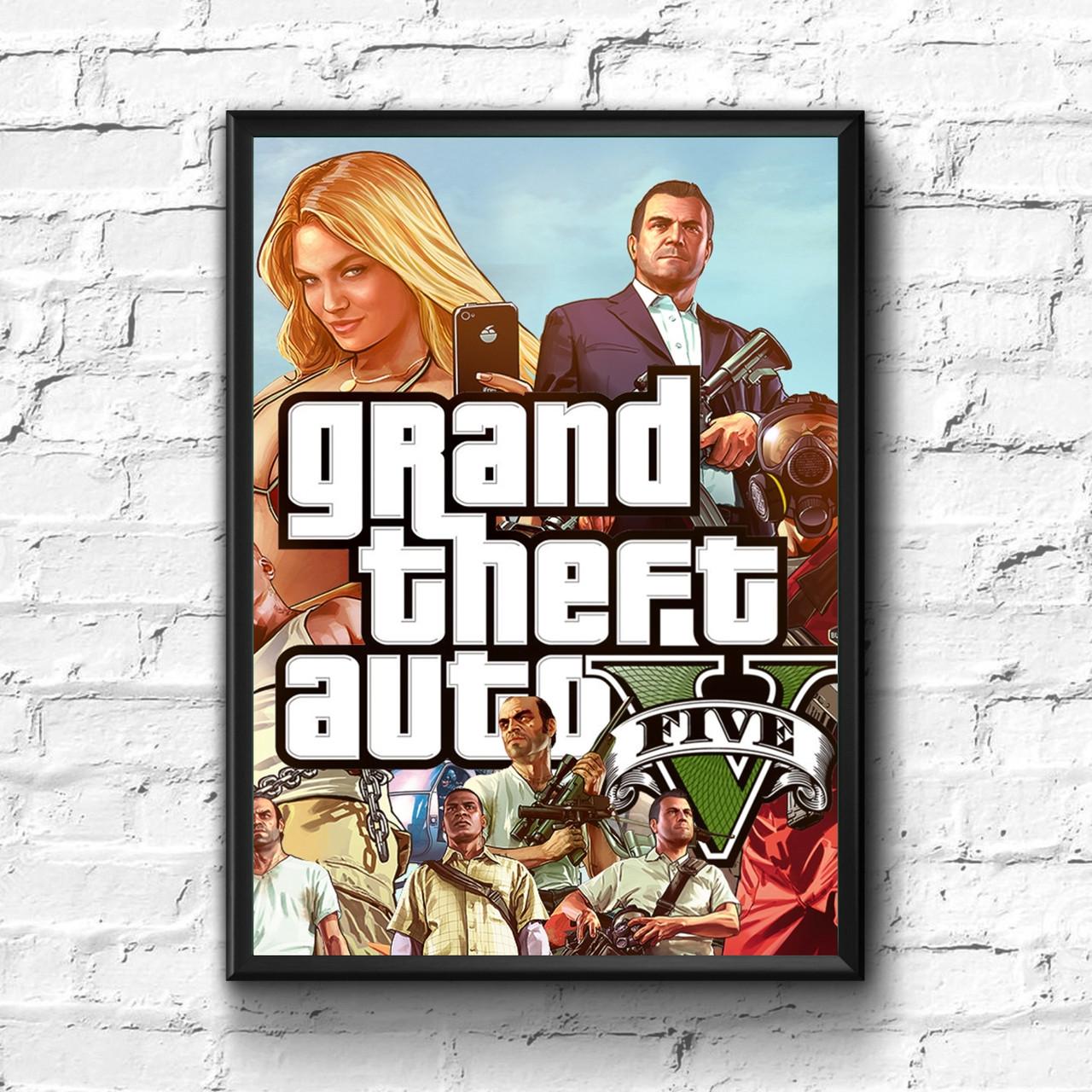 Постер с рамкой GTA #7